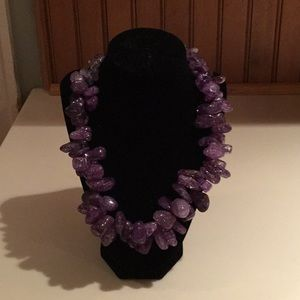 Jewelry - Purple quartz handcrafted necklace.